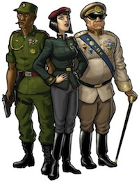 a cast of dictators for dictator wars